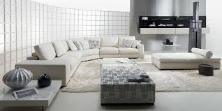 Sofa For Living Room by Contemporary Domino Living Room With White Leather Sofa And