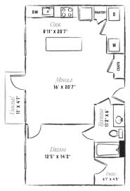 Efficiency Apartment Floor Plans Floor Plans Studio Apartments In Downtown Austin Efficiency