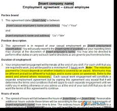 casual employment contract template australia