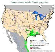 alligators in map alligator gar range map