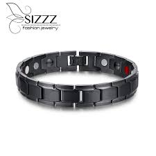 aliexpress buy 2016 new fashion men jewelry black cz aliexpress buy 2016 health magnetic bracelet men jewelry