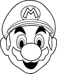 halloween masks super mario face coloring page wecoloringpage