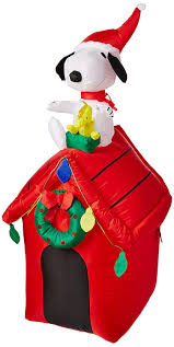 peanuts airblown inflatables gemmy peanuts snoopy airblown 4 doghouse