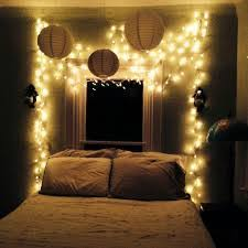 a cheap white curtain removable wall hooks and christmas lights
