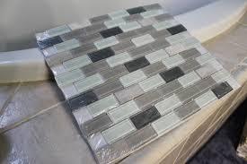 bathroom breathtaking idea for dark brown glass tile thin set