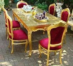 gold dining table set casa padrino baroque dining room set bordeaux gold dining table