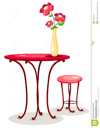 The Flower Vase Vase Of Flowers With Table And Chair Royalty Free Stock