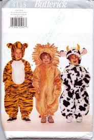 Lion Halloween Costume Toddler Butterick 4115 Toddler Lion Tiger Animal Halloween Costume