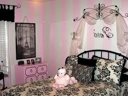 paris themed bedrooms black and white cream stained wooden frame