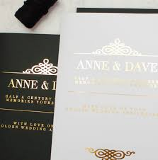black white gold personalised luxury wedding card by made with