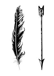 arrow feather tattoo tattoo collections