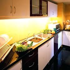 Led Light Kitchen Cabinet Plant Light Marble Kitchen With Frosted Glass For