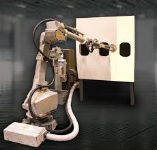painting robot fanuc demonstrates new p 350ia 45 painting and coating robot at