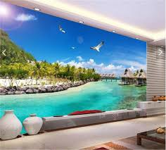 online get cheap maldives hotels aliexpress com alibaba group 3d wallpaper custom photo wall paper the maldives sea scenery tv sofa