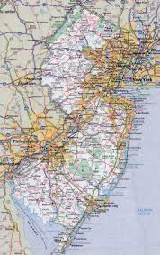 Map New Jersey Large Detailed Roads And Highways Map Of New Jersey State With All