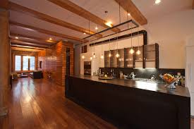 modern kitchen lighting design inspiring kitchen lighting design with brown floor and long table