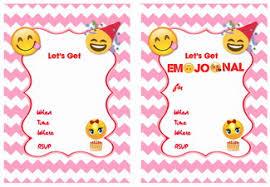 emoji birthday invitations u2013 birthday printable