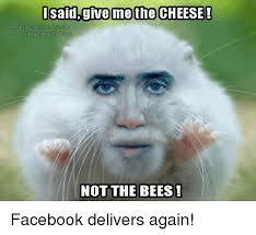Nicolas Cage Face Meme - i said give me the cheese facebook com nicolas cages face onthings