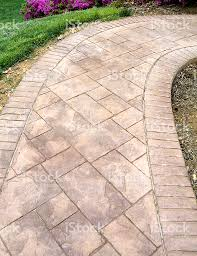 Pictures Of Stamped Concrete Walkways by Stamped Concrete Sidewalk Stock Photo 157338763 Istock