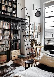 a striking inner city apartment dust jacket bookcase with