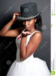 black woman in wedding dress stock images image 24001034