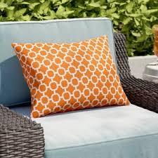 orange pillows you u0027ll love wayfair