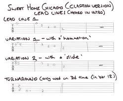 the sweet home sheets sweet home chicago clapton lead lines guitar scales pinterest