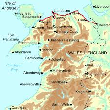 Wales England Map by North Wales Coast Path Walking Holidays And Hiking Tours In Wales