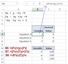 simultaneous linear equation solver excel excel tutorial
