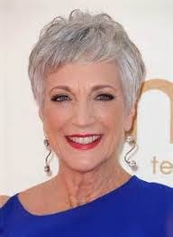 over 60 hair color for gray hair andrea romano short straight casual hairstyle with layered bangs