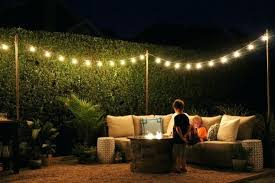 Backyard String Lighting Ideas Backyard String Lights Ideas Poles For Outdoor Globe On The Deck
