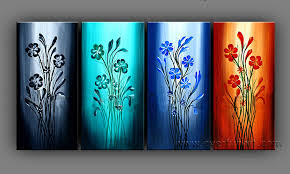 pictures for home china beautiful abstract flower group oil painting on canvas for