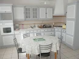cuisine 14m2 meubles peints decoration faux bois faux marbre trompe l oeil sur