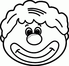 clown face coloring page aecost net aecost net
