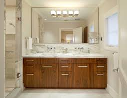 awesome large frameless bathroom mirror also elegant decor with