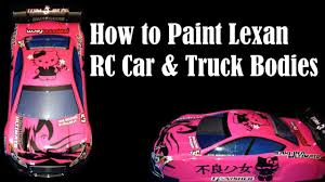 how to paint clear rc car u0026 truck bodies lexan polycarbonate