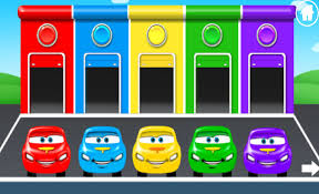 colors for children to learn with car parking cars garage