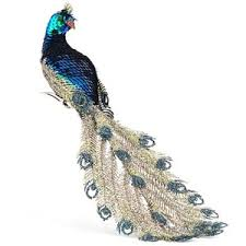 kurt adler peacock ornament polyvore
