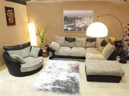 Swivel Cuddle Chair Rio Jumbo Black U0026 Grey Corner Sofa With Matching Swivel Cuddle