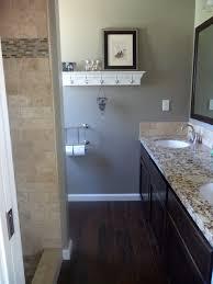 Bathroom With Wood Tile - wood floor in bathroom home interiror and exteriro design home