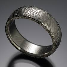 damascus steel wedding band chris ploof damascus damascus steel wood grain pattern style