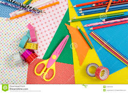 arts and craft supplies stock photo image 51984449