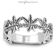 ring size mens pot leaf marijuana sterling silver band ring size 5 6 7 8 9 mens