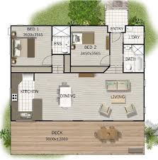 two bedroom granny flat floor plans 2 bedroom granny flat on timber floor for sloping land 141m2 size