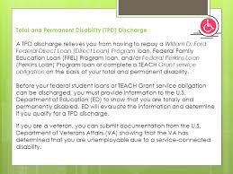 william d ford federal direct loan program forgiveness cancellation and discharge ppt