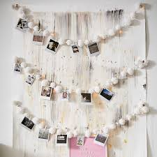 string lights with picture clips pom pom string lights with clips pbteen