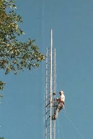 erecting an antenna tower