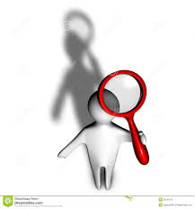 Seeking Clip 3d Person With Shadow Seeking Informations With Magnifying Glass