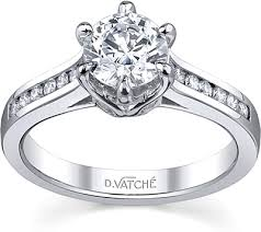 channel set engagement rings vatche channel set six prong engagement ring 192