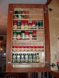 Spice Rack Plano Tedd Wood Spice Storage On Inside Of Cabinet Door Storage